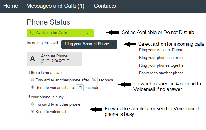 How do I Manage my Phone Status? - Magna5 Knowledge Base